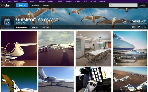 Screenshot of Flickr Page flickr.com - Flickr: GulfstreamAero's Photostream - captured Oct. 23, 2014