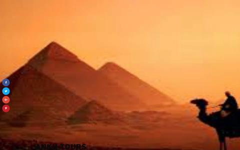 Screenshot of Home Page ankhtours.com - Ankh Tours - captured Oct. 9, 2017
