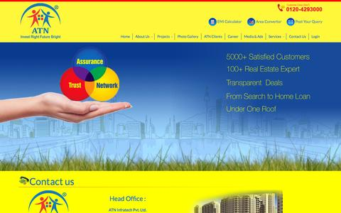 Screenshot of Contact Page atninfratech.com - Contact Us Residential Projects in NCR | Commercial Projects in Delhi NCR - Atninfratech.com - captured Sept. 28, 2015