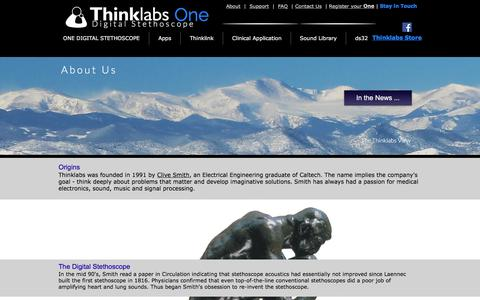 Screenshot of About Page thinklabs.com - Thinklabs - About Us - captured June 17, 2017
