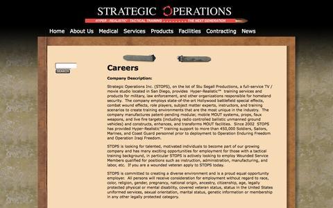 Screenshot of Jobs Page strategic-operations.com - Careers | Strategic Operations - captured Oct. 7, 2014