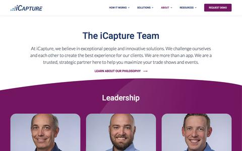 Screenshot of Team Page icapture.com - Our Team - iCapture - captured Jan. 24, 2020