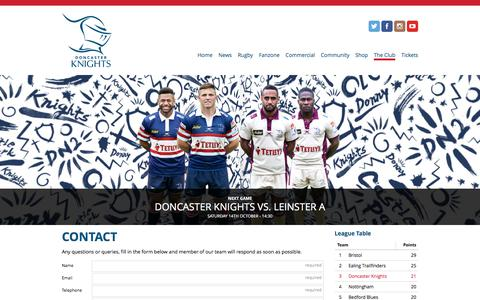 Screenshot of Contact Page drfc.co.uk - Contact the Club - captured Oct. 12, 2017