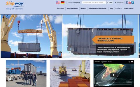 Screenshot of Home Page shipway.com.ar - Shipway Transport Solutions - captured Oct. 6, 2014