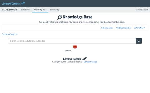 Constant Contact Knowledge Base