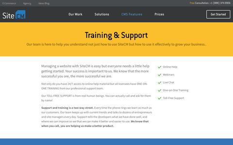 Screenshot of Support Page idealever.com - Training & Support - captured Oct. 27, 2017