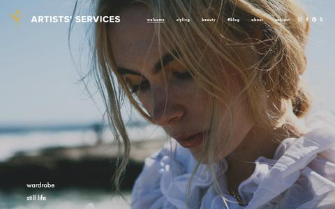 Screenshot of Home Page artists-services.com - ARTISTS' SERVICES - captured Nov. 6, 2018