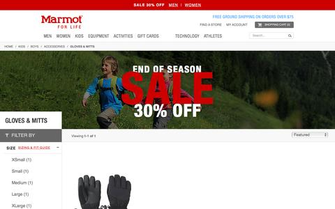 Gloves & Mitts / Accessories / Boys / Kids | Marmot
