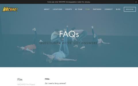 Screenshot of FAQ Page nachmo.org - FAQs — NACHMO - captured March 6, 2016