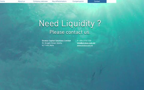 Screenshot of Contact Page stratus.com.mt - Stratus Capital Solutions Ltd., Liquidations, impaired assets | Contact - captured Oct. 19, 2018