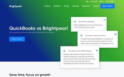 Quickbooks Alternative for Retailers - Quickbooks vs Brightpearl | Brightpearl