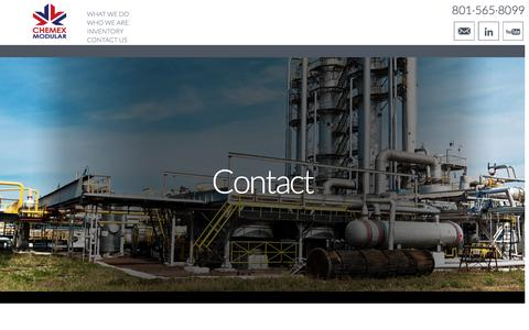 Screenshot of Contact Page chemexllc.com - Contact Chemex Modular - captured Nov. 5, 2016