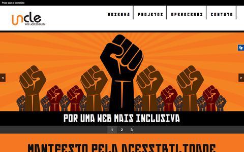 Screenshot of Home Page uncle.com.br - Uncle web accessibility | Desenvolvimento e consultoria em acessibilidade web - captured Nov. 12, 2017