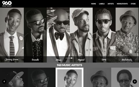 Screenshot of Home Page 960music.com - 960 Music :: Official Site :: Home - captured Feb. 16, 2016