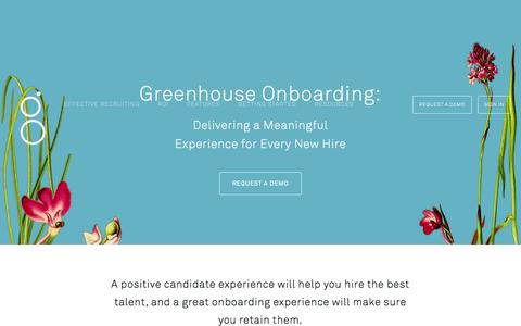 Screenshot of Contact Page greenhouse.io - Contact Greenhouse Recruiting Software - captured Jan. 16, 2016