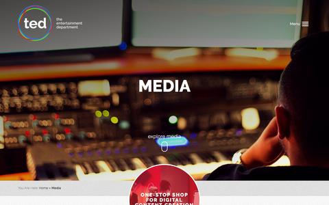 Screenshot of Press Page tedgroup.com - Audio, Visual & Digital Media Services - captured March 7, 2016
