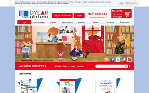 Screenshot of Home Page dylar.es - Dylar, material educativo didactico - captured Oct. 1, 2014