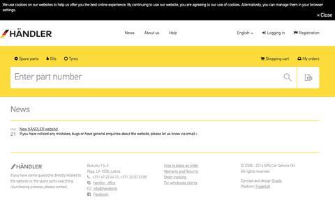 Screenshot of Press Page teilewelt-online.de - News - captured Nov. 18, 2016