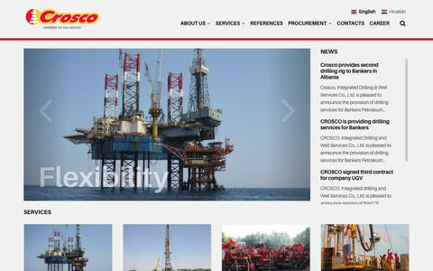 Screenshot of Home Page crosco.com - Crosco - Integrated Drilling & Well Services Co., Ltd - captured Sept. 30, 2018