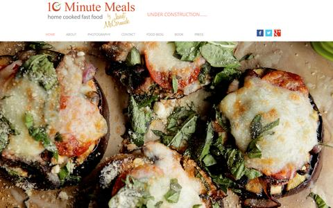 Screenshot of Home Page 10-minutemeals.com - 10-Minute Meals - captured Aug. 10, 2016
