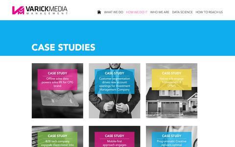 Screenshot of Case Studies Page varickmm.com - Case Studies - Varick Media Management - captured Nov. 29, 2016