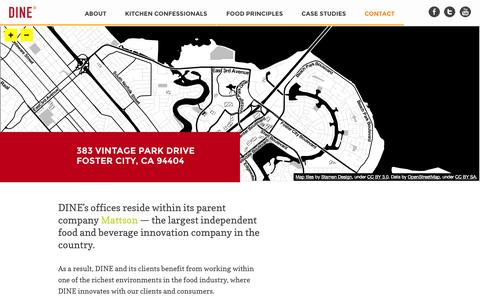 Screenshot of Contact Page dinemarketing.com - Contact » DINE Marketing - captured Oct. 5, 2014