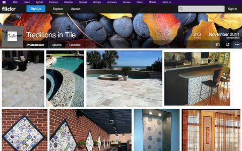 Screenshot of Flickr Page flickr.com - Flickr: Traditions in Tile's Photostream - captured Oct. 26, 2014