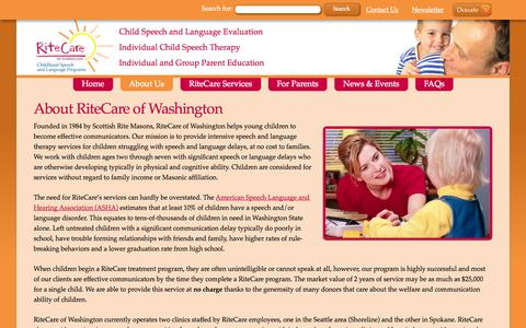 Screenshot of About Page ritecarewa.org - About Us - RiteCare of Washington - captured Oct. 26, 2014