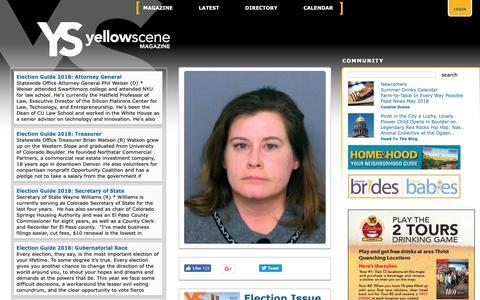 Screenshot of Home Page yellowscene.com - North Metro Diversions – Yellow Scene Magazine - captured Oct. 19, 2018