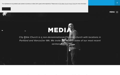 Screenshot of Press Page citybiblechurch.org - Christian Church Sermon Videos | CBC: Portland & Vancouver - captured July 18, 2018