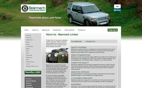 Screenshot of About Page bearmach.com - Bearmach - captured Dec. 30, 2015
