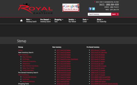 Screenshot of Site Map Page royalontheeastside.com - Royal on the Eastside   New Inventory for sale in Bloomington, IN 47401 - captured April 26, 2017