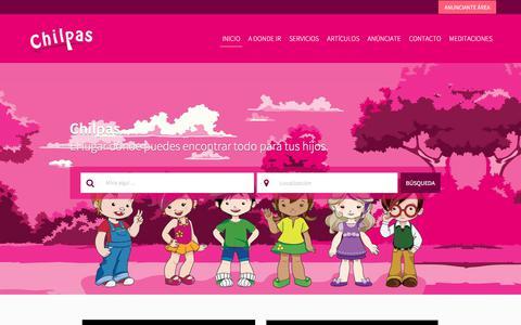 Screenshot of Home Page chilpas.com - Chilpas   Directorio Infantil   Chilpas - captured July 17, 2018