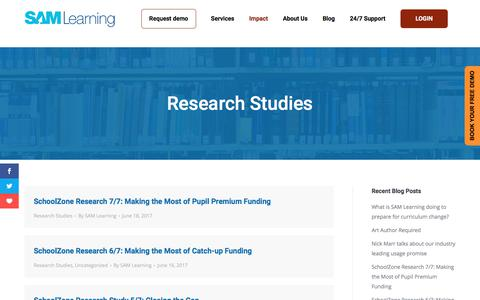 SAM Learning Research Studies: See how SAM Learning improves student grades
