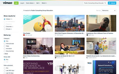 Public Consulting Group Education in videos on Vimeo