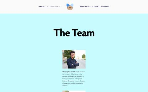 Screenshot of Team Page heymaggie.com - Team — Maggie - captured July 19, 2018