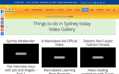 Screenshot of Press Page wannabees.com.au - things to do in Sydney today | media | attractions - captured June 15, 2016