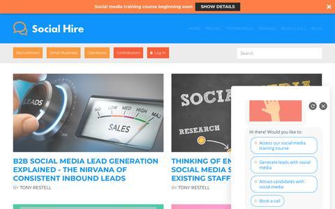 Screenshot of Blog social-hire.com - Social Media and Social Recruiting Blogs from Social Hire - captured April 20, 2019