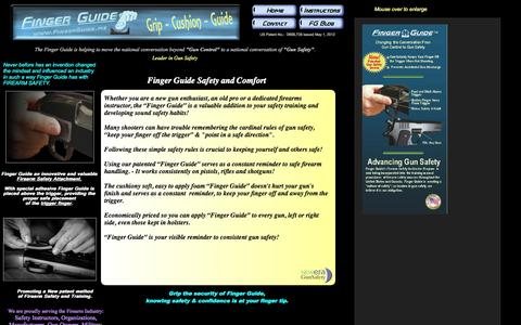 Screenshot of Home Page fingerguide.me - Finger Guide's Firearm Safety Device - captured Sept. 30, 2014