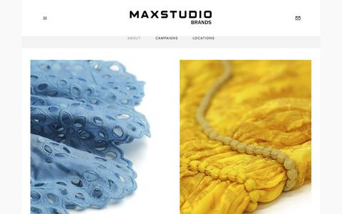 Screenshot of About Page maxstudio.com - About — Max Studio - captured June 27, 2019