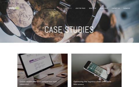 Screenshot of Case Studies Page wunderdog.fi - Case studies — Wunderdog - captured Dec. 3, 2016