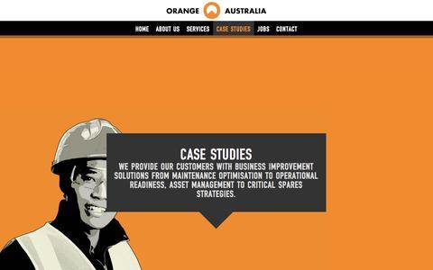 Screenshot of Case Studies Page orangeaustralia.com.au - ORANGE AUSTRALIA : Mining Maintenance Case Studies WA - captured Oct. 9, 2014