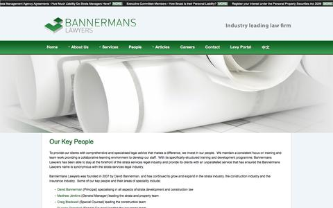 Screenshot of Team Page bannermans.com.au - Bannermans Lawyers - People - captured Oct. 5, 2014