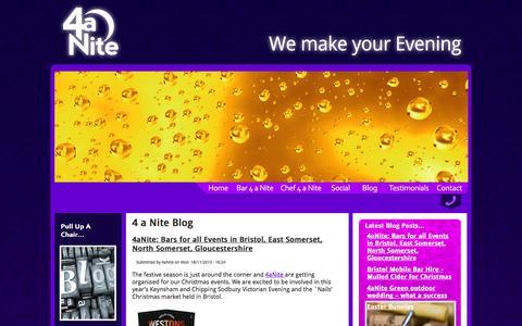 Screenshot of Blog 4anite.co.uk - 4 a Nite Blog - captured Oct. 27, 2014