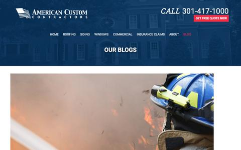 Screenshot of Blog americancustomcontractors.com - Blog - American Custom Contractors - captured Nov. 6, 2018