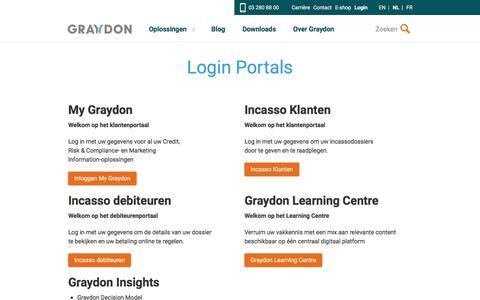 Screenshot of Login Page graydon.be - Login Portals   Graydon BE - captured Sept. 15, 2017