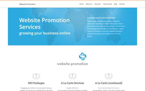 Screenshot of Services Page web-promotion-specialist.com - Website Promotion Services - captured Oct. 18, 2018