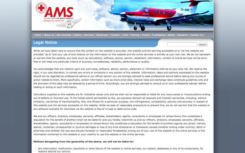 Screenshot of Terms Page ams.org.za - Legal Notice | AMS - captured Oct. 31, 2014