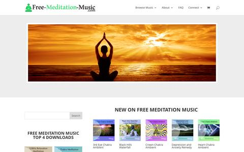 Screenshot of Home Page free-meditation-music.com - Free Meditation Music | High Quality Meditation Audio Downloads for FREE! - captured Dec. 5, 2016
