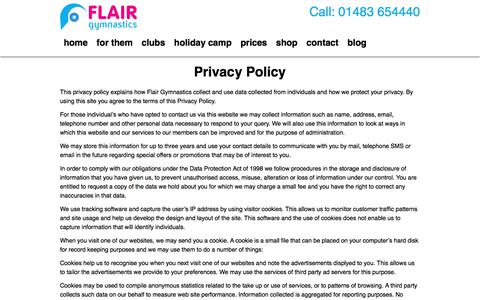 Screenshot of Privacy Page ukflair.com - Privacy Policy | UK Flair - captured Oct. 14, 2017